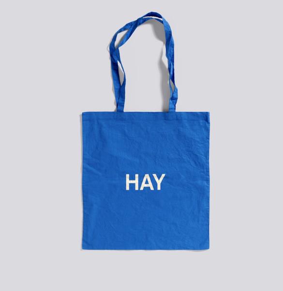 HAY Blue Toto Bag, White Logo